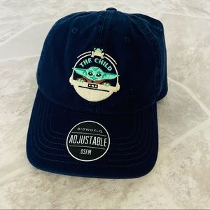 NWT STAR WAS embroidered baby Yoda the child navy blue baseball cap SZ 14 &older